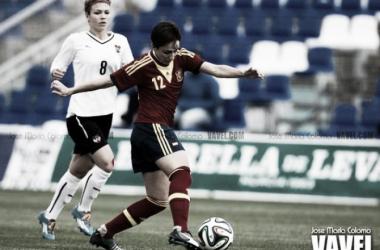 Marta Corredera en un encuentro con la selección. | Foto: (VAVEL.com).
