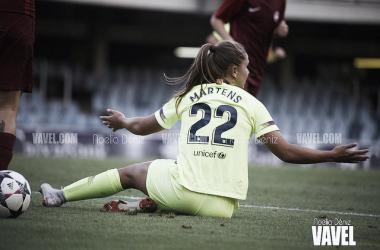 Lieke Martens durante el partido de Champions contra el BIIK Kazygurt. Foto: Noelia Déniz, VAVEL.com