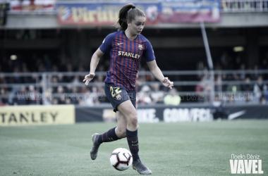 La atacante azulgrana disputará su primera final europea con el FC Barcelona femenino / Foto: Noelia Déniz (VAVEL.com)