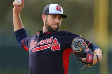 Cody Martin was the first of nine Braves pitchers to no-hit the Astros Sunday. -- Curtis Compton, Atlanta Journal Constitution Sports
