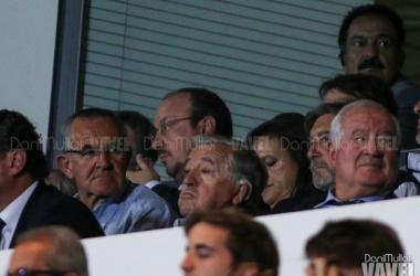 Martín-Sanz (a la derecha de la imagen) durante el Real Madrid Castilla - Real Sociedad B   Dani Mullor - VAVEL