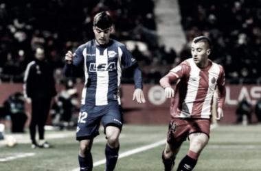 Martín el día de su debut en Primera en Girona. / Foto: LaLiga