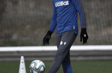 Martin Odegaard, en un entrenamiento tras superar la lesión (FOTO:// Twitter Real Sociedad)