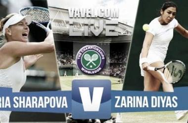 Result Sharapova - Zarina Diyas in Wimbledon 2015 Fourth Round(6-4, 6-4)