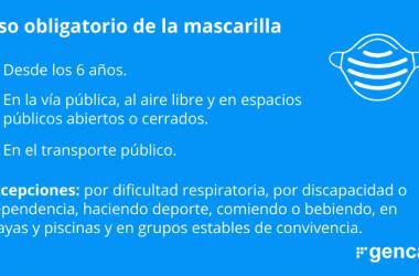 La Generalitat Catalana decreta el uso obligatorio de mascarilla en todos los espacios públicos