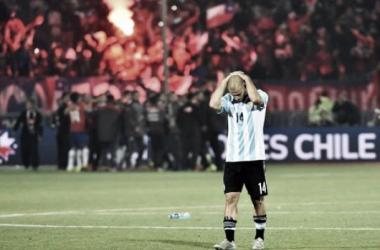 Masche no lo puede creer: otra final perdida (Foto: Olé).