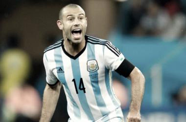 Último partido de Mascherano con Argentina // Foto: EFE