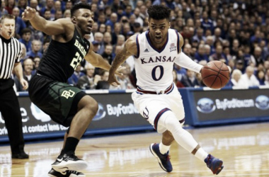 Frank Mason III played a big role in the Kansas Jayhawks victory. | Photo:  Jay Biggerstaff/USA TODAY Sports