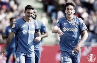 Mata celebrando un gol. Fotografía: Getafe