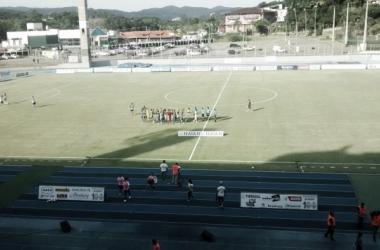 A partida foi realizada no estádio do Sesi, em Blumenau | Foto: Edmilson Luiz Ramos