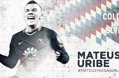 Mateus Uribe ya se viste de 'águila'