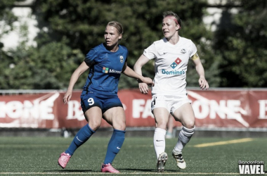 Merritt Mathias (left) was named to Jill Ellis' United States women's national team roster for the upcoming October friendlies | Source: Brandon Farris - VAVEL USA