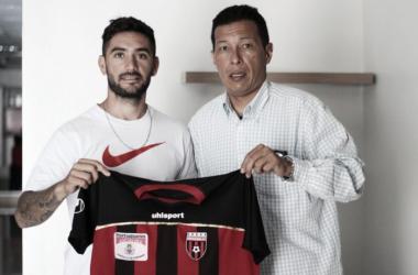 Matías Sarraute nuevo jugador del Portuguesa FC. FOTO: PRENSA PORTUGUESA FC
