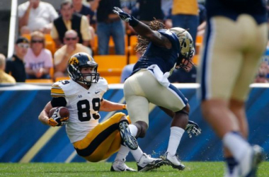 Iowa came away with a big win on the road against Pittsburgh on Saturday (Gene Puskar / AP Photo)