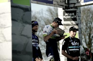 A los 37 años, Mathew Hayman consiguió su primer adoquín | Foto: Paris-Roubaix - ASO