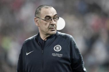 """Sarri destaca evolução da Juventus após derrota na Copa da Itália:""""Questão de condição física"""""""