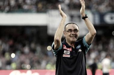 Sarri se despidió de los tifosi en el último partido ante el Crotone. / Foto: sscnapoli.it