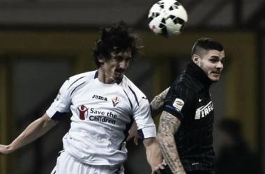 Icardi en el último Inter - Fiorentina. Foto: Goal.