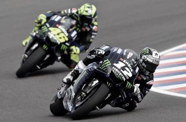 Maverick Viñales y Valentino Rossi / Foto: Monster Energy Yamaha MotoGP