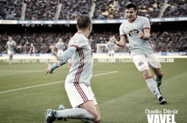 Maxi y Iago en la celebración de un gol. Foto: Noelia Déniz, VAVEL