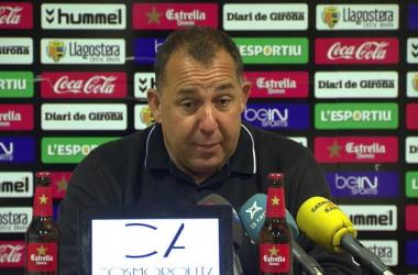 Rueda de prensa y zona mixta. UE Llagostera - Girona FC