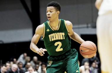 America East Player of the Year Trae Bell-Haynes leads Vermont/Photo: UVM Athletics