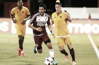 Camilo Mayada un jugador que siempre corre mucho para atacar y defender. Foto Diario Córdoba.