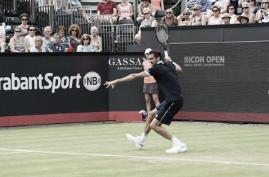 Marin Cilic in campo oggi a s-Hertogenbosch. Fonte: RicohOpen/Twitter