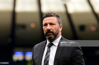 Manager Derek McInnes is yet to reach the Europa League group stage in charge of Aberdeen (getty images/Mark Runnacles)