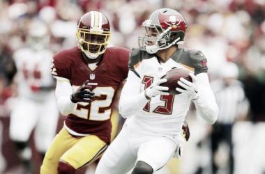 Mike Evans y sus Bucs sorprenden a los Redskins