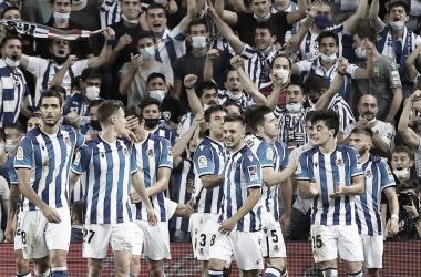 Los Jugadores de la real celebrando un gol / Foto: Real Sociedad