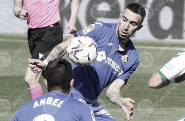Darío Poveda debutando ante el Elche / Foto: LaLiga