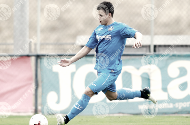 Gustavo durante un partido en la Ciudad Deportiva. / Foto: getafecf.com