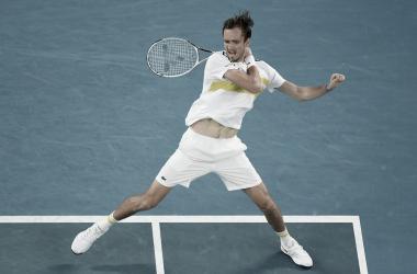 Medvedev se ha convertido en el tercer ruso en alcanzar la final en Australia. Foto: Australian Open