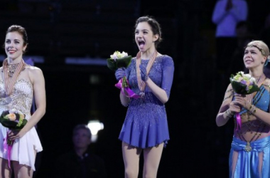 Evgenia Medvedeva won her first World Championship (source: AP)