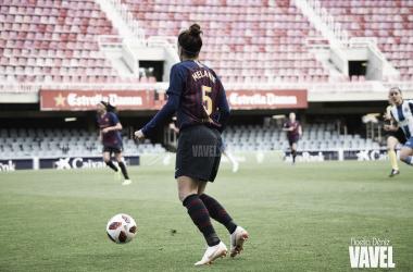 Imagen de archivo de Melanie Serrano durante un partido. FOTO: Noelia Déniz