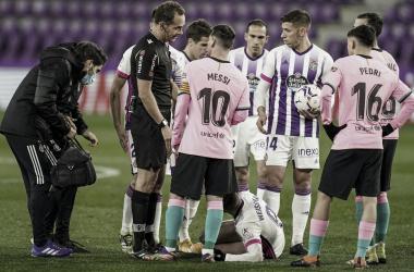 Melero López en el partido entre el Real Valladolid y FC Barcelona// FOTO: RealValladolid.es