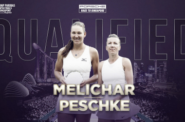 Melichar and Peschke, the Wimbledon finalists, will be competing in Singapore for the first time as a pair | Photo: WTA