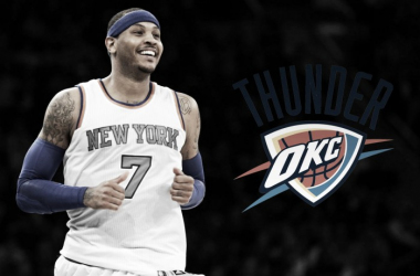 Can Anthony help the Thunder advance past the second round? Photo: Vavel USA illustration