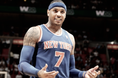 James Harden da el 'OK' a Carmelo Anthony | Foto: nba.com