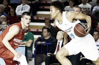 Pantzar en su primer partido oficial contra el Fuenlabrada | Foto: ACB.com