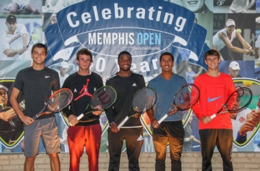 Taylor Fritz (left), Tommy Paul, Frances Tiafoe, Michael Mmoh and Jared Donaldson/Photo: Alex Smith/Memphis Open