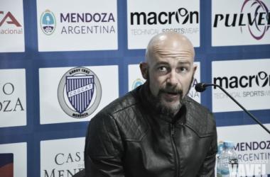 Sebastián Méndez, DT de Godoy Cruz. | Foto: Agustina Cruciani - VAVEL.
