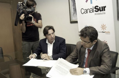 Zulategui junto a Pablo Carrasco | Foto: RTVA