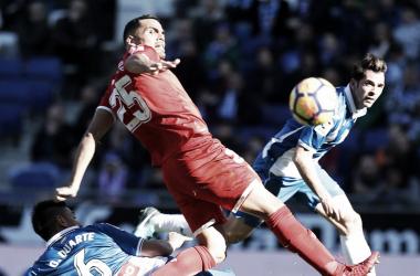 Mercado en el encuentro de la pasada temporada contra RCD Espanyol | Foto: Sevilla FC
