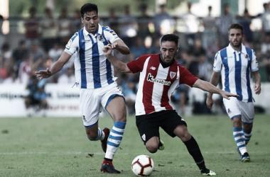 Mikel Merino uno de los refuerzos de la Real, jugará con Illarra en el doble pivote. Foto: Real Sociedad