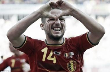 Dries Mertens saltou do banco para dar a vitória aos Diabos Vermelhos. (Fonte: AFP)