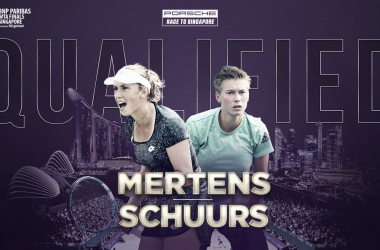 Elise Mertens and Demi Schuurs will look to cap off a highly successful year with a deep run in Singapore | Photo: WTA