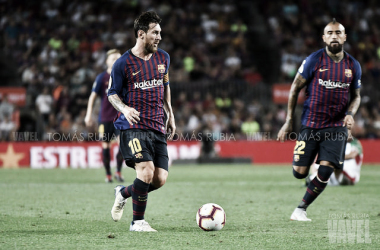 Imagen de archivo de Leo Messi durante un partido. FOTO: Tomás Rubia