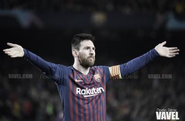 El capitán del Barça celebrando un gol en el FC Barcelona 3-0 Liverpool FC / Foto: Noelia Déniz (VAVEL.com)